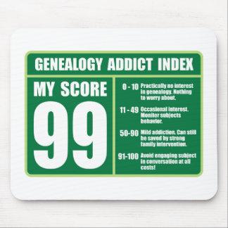 Genealogy Addict Index Mouse Pad