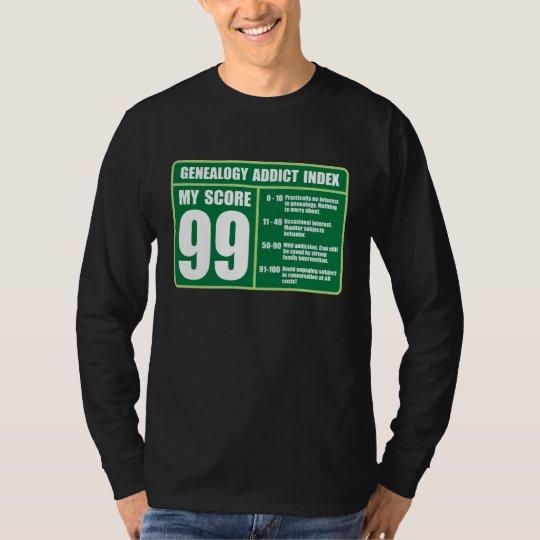 Genealogy Addict Index T-Shirt