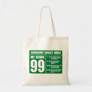Genealogy Addict Index Tote Bag