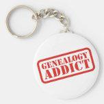 Genealogy Addict Key Chain