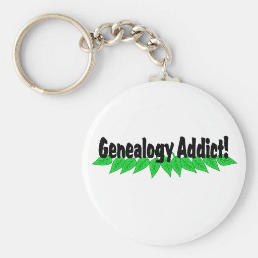Genealogy Addict Keychain Keyring