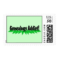 Genealogy Addict Postage Stamp