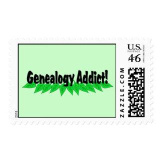 Genealogy Addict Postage Stamp