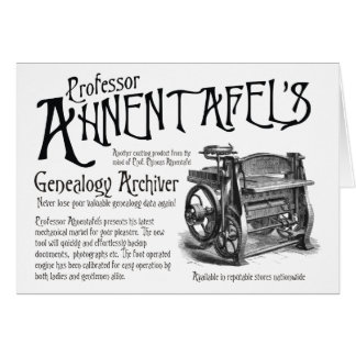 Genealogy Archiver Card