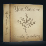 """Genealogy binders<br><div class=""""desc"""">Antique looking paper parchment print family tree genealogy keepers.</div>"""