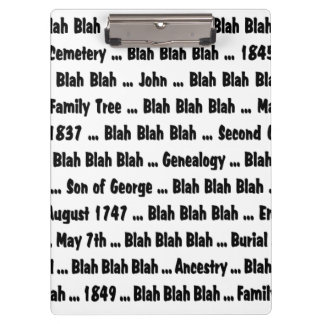 Genealogy Blah Blah Blah Clipboard