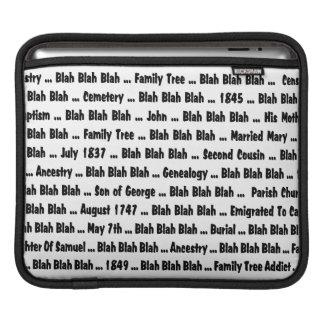 Genealogy Blah Blah Blah Sleeve For iPads