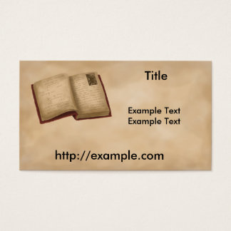 Genealogy Book Business Card