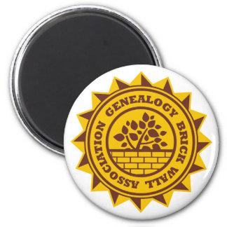 Genealogy Brick Wall Association 2 Inch Round Magnet