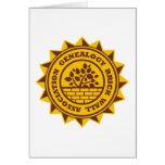 Genealogy Brick Wall Association Greeting Card