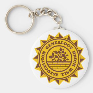 Genealogy Brick Wall Association Keychain
