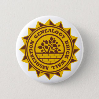 Genealogy Brick Wall Association Pinback Button