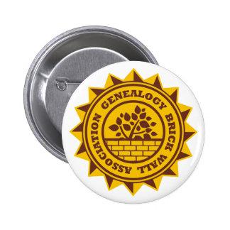 Genealogy Brick Wall Association Pinback Button
