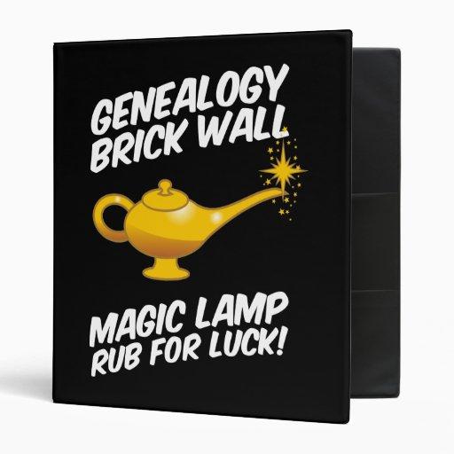Genealogy Brick Wall`Magic Lamp 3 Ring Binders