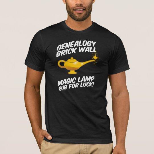 Genealogy Brick Wall Magic Lamp T-Shirt