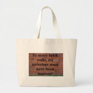 "Genealogy ""Brick Wall"" Tote Bag"