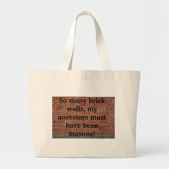 "Genealogy ""Brick Wall"" Tote Bag"
