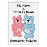 Genealogy Buddies - Bears Greeting Cards