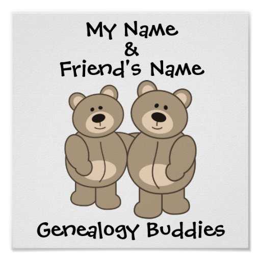 Genealogy Buddies - Bears Poster