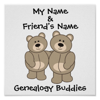 Genealogy Buddies - Bears Posters