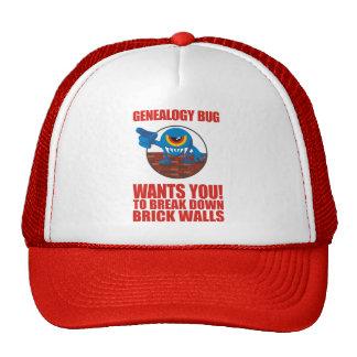 Genealogy Bug Breaks Walls Trucker Hats
