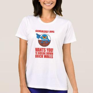 Genealogy Bug Breaks Walls T-shirt
