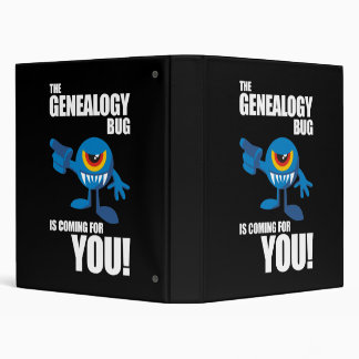 Genealogy Bug Coming For YOU 3 Ring Binder