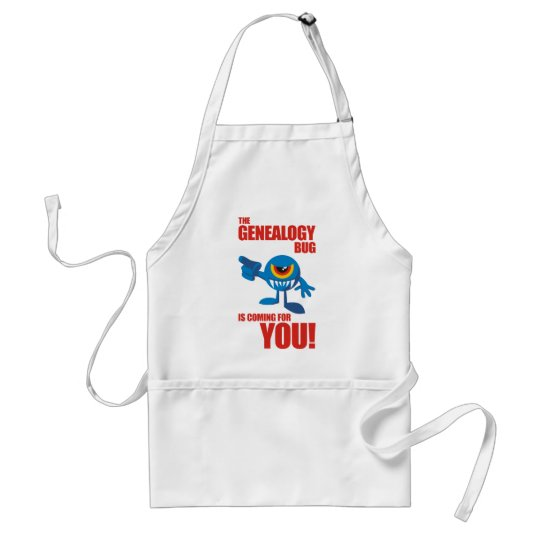 Genealogy Bug Coming For YOU Adult Apron