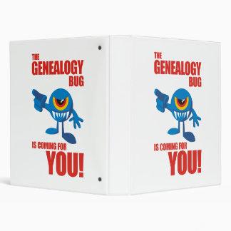 Genealogy Bug Coming For YOU Vinyl Binder