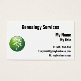 Genealogy Business Card - Customize!