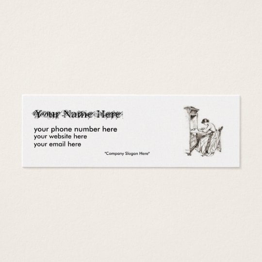 Genealogy Business Card,... Mini Business Card