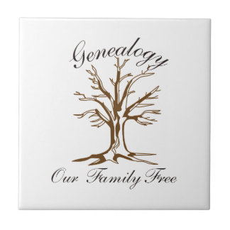 Genealogy Ceramic Tile