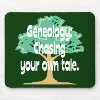 Genealogy: Chasing Your Own Tale Mouse Pad