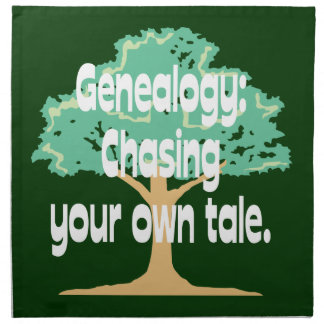 Genealogy: Chasing Your Own Tale Printed Napkins