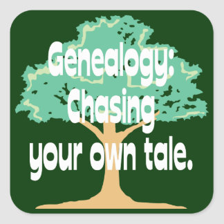 Genealogy: Chasing Your Own Tale Square Sticker