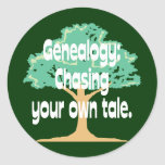 Genealogy: Chasing Your Own Tale Stickers