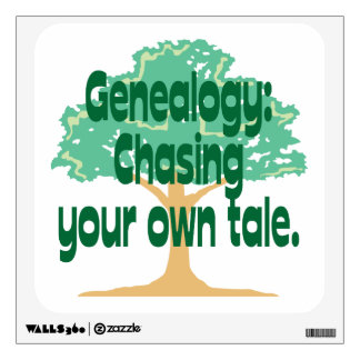 Genealogy - Chasing Your Own Tale Wall Decal