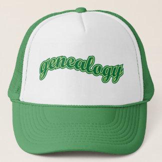 Genealogy Curve - Green Trucker Hat