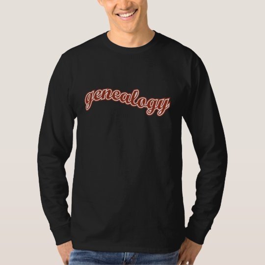Genealogy Curve - Red T-Shirt