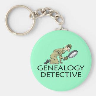 Genealogy Detective Basic Round Button Keychain
