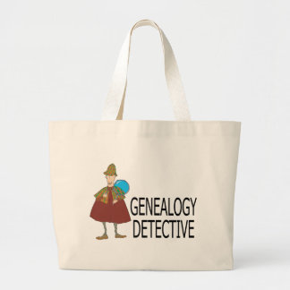 Genealogy Detective Large Tote Bag