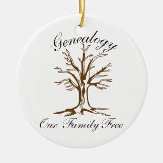 Genealogy Double-Sided Ceramic Round Christmas Ornament