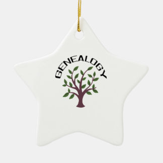 Genealogy Double-Sided Star Ceramic Christmas Ornament