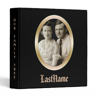 Genealogy Family History | Custom Photo Black Binder