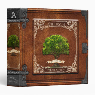 Genealogy Family Tree 3 Ring Binder at Zazzle