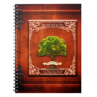 Genealogy Family Tree Antique Look Notebook