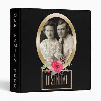 Genealogy Family Tree | Custom Photo Gold Rose Binder