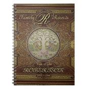 Genealogy Family Tree Gold Vintage Look Notebook (<em>$13.70</em>)