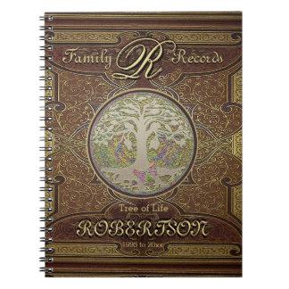 Genealogy Family Tree Gold Vintage Look Notebook