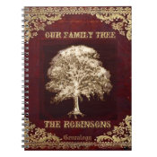 Genealogy Family Tree Gold Vintage Look Notebook (<em>$13.70</em>)